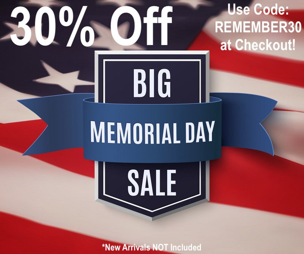 30% Off Memorial Day Sale