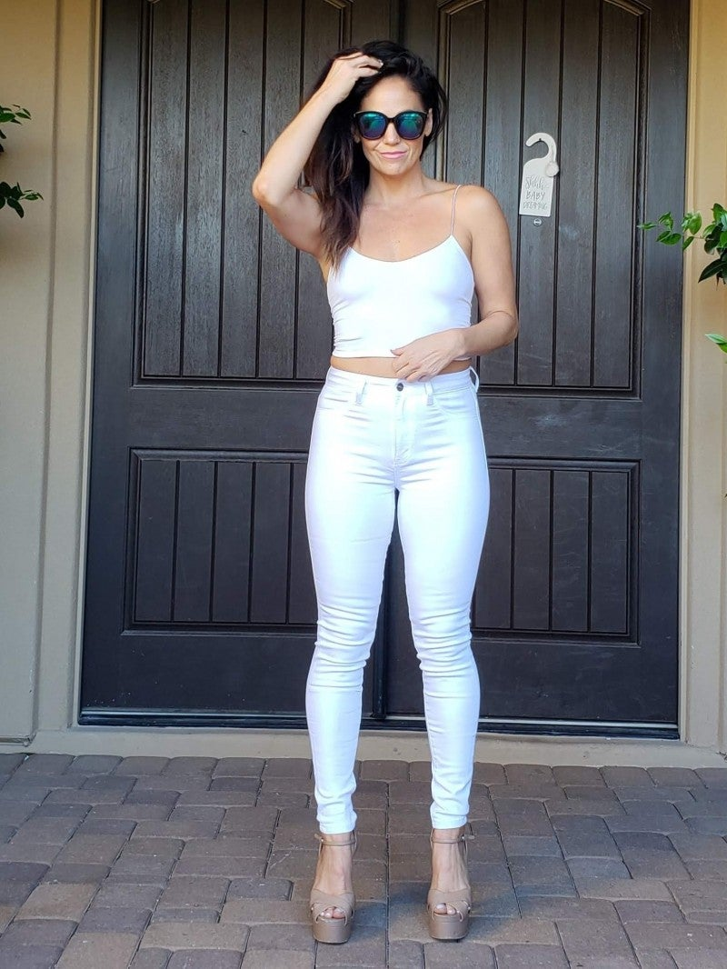 White Super High Rise Kancan Jeggings