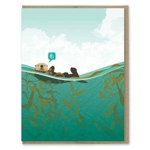 "Just saying ""Hi"" Otter Card"