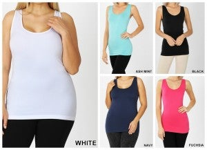 Slimming Dreamy Solid Tank Top