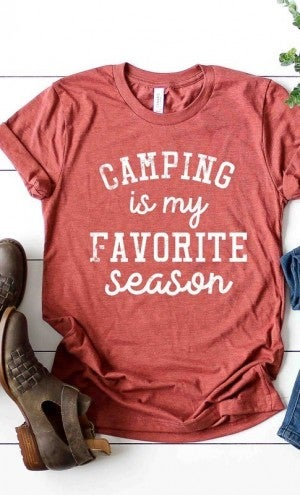 """Camping is my favorite season"" Graphic Tee"