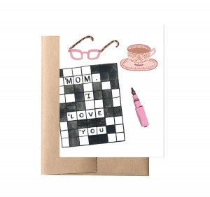 Happy Mother's Day Crossword card