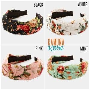 Floral boho headband