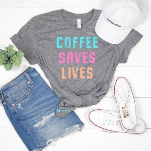 'Coffee Saves Lives' Graphic Tee