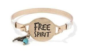 """Free Spirit"" bangle bracelet"