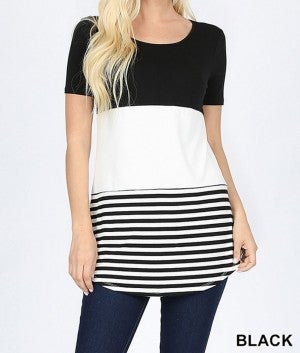 Spring Color-Blocked Striped Top *Final Sale*