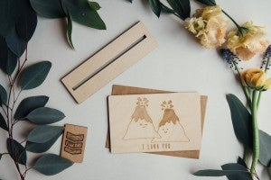 """'I Lava You"""" Wooden Card"""