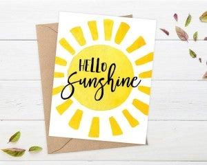'Hello Sunshine' card