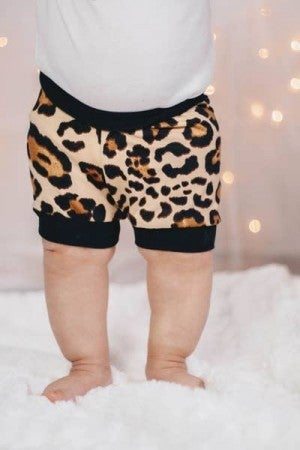 Latte Cheetah Infant/Toddler Shorties : Jena Bug Baby Boutique