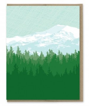Mountains Blank Note Card