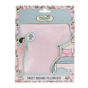 Pink Sweet Dreams Silky Satin Pillowcase
