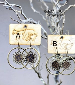 LV Upcycled Dangle Earrings