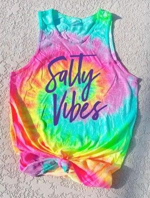 Tie Dye Salty Vibes Tank Pre-Order