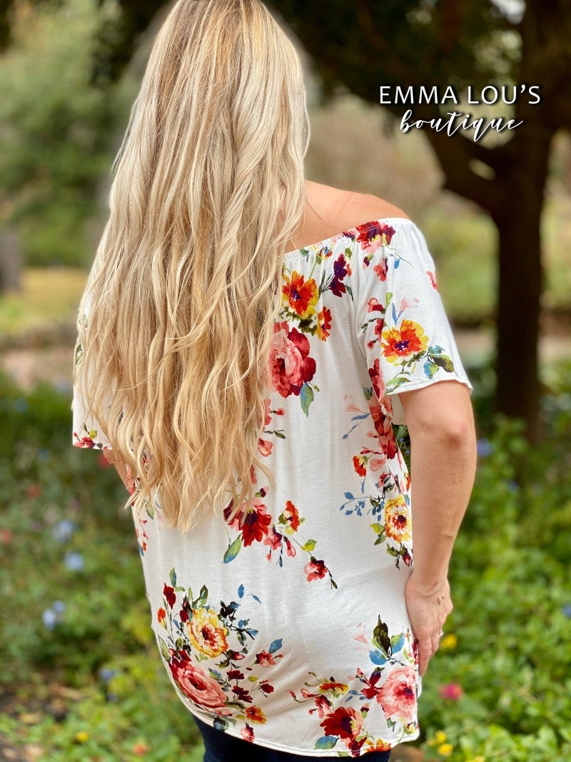 Button Down Floral Printed Top