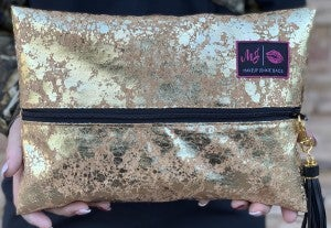 Makeup Junkie The Golden Cork Bag