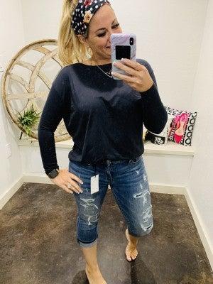 "Judy Blue 22"" Inseam Denim Capri Jeans"