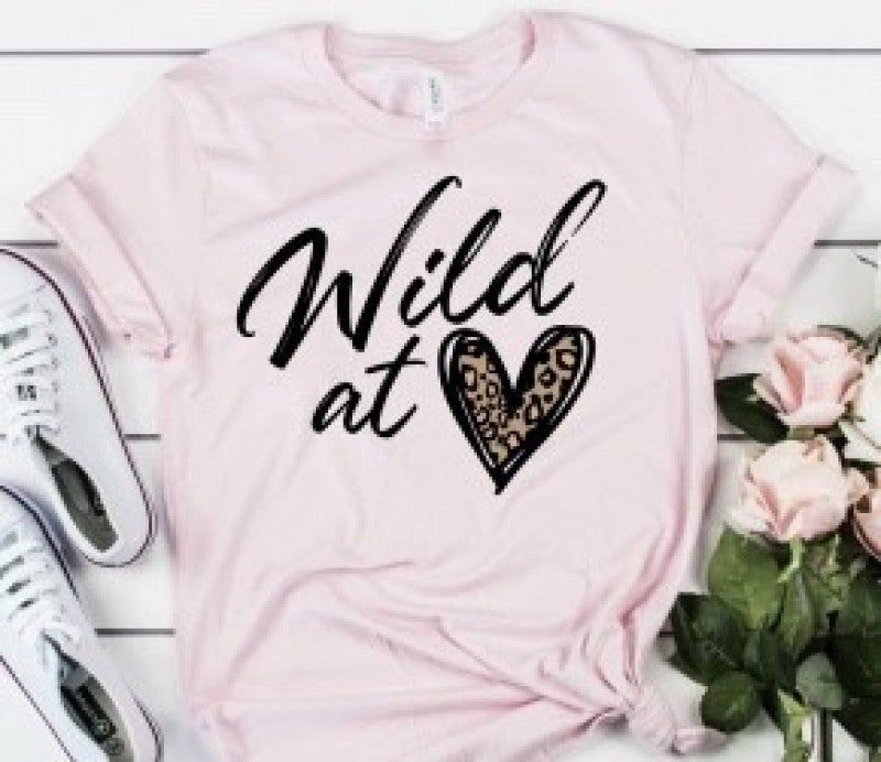 Wild At Heart Leopard Graphic Tee
