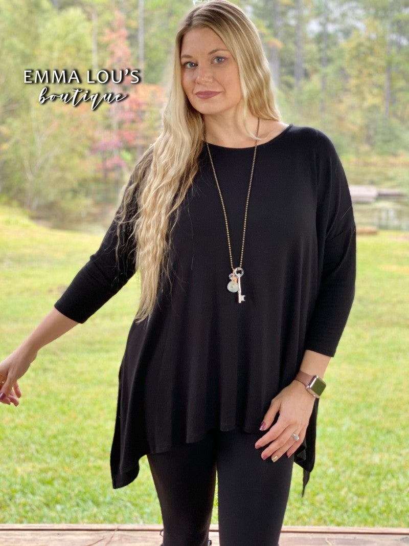 Everything you Need Over Sized Black Tunic