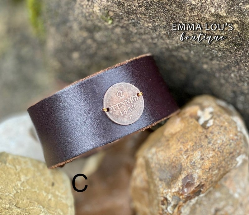 Made In the Deep South Longer Length Leather Cuff