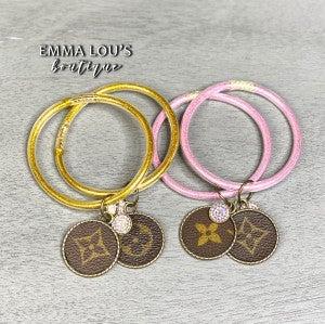 Up Cycled Keep It Gypsy Glitter Bracelet