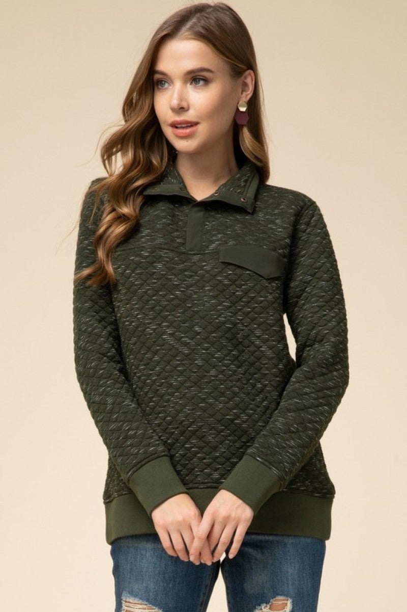 Quilted Prep Pullover