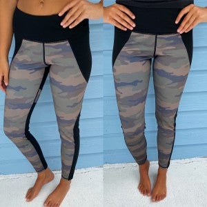 Color Block Camo Leggings