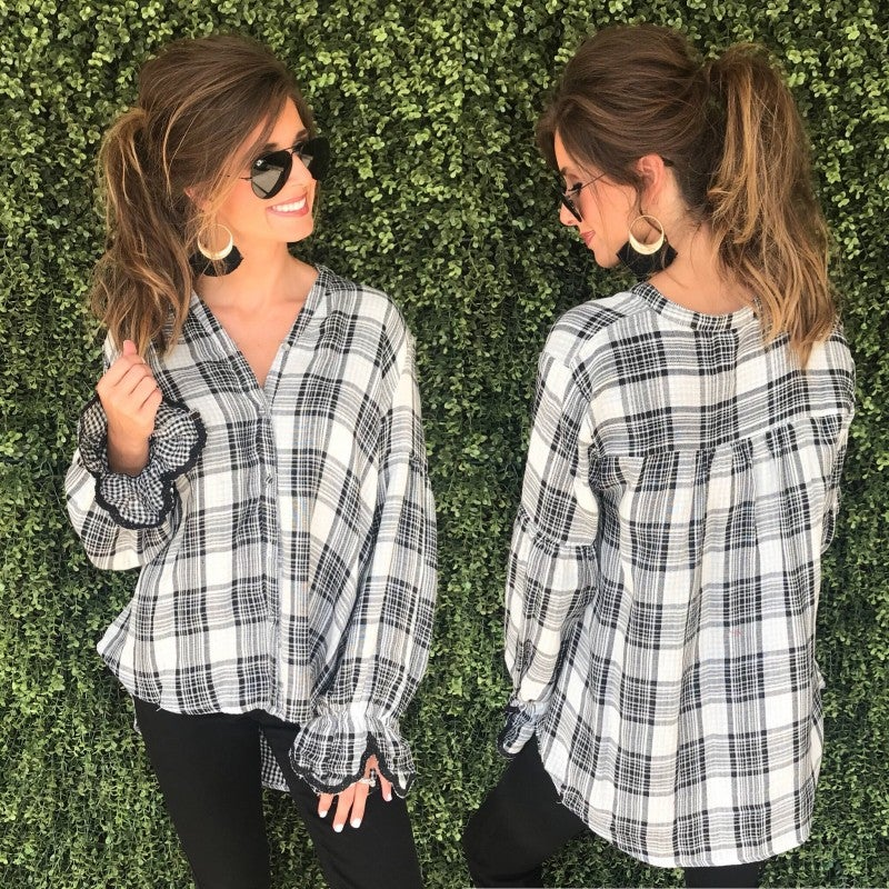 Perfect In Plaid Top