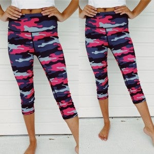 Party Pink Camo Leggings