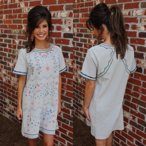 Sage Smooth Sailing Shift dress/FINAL SALE