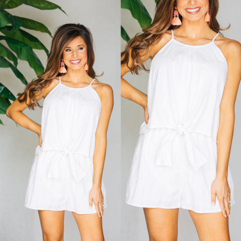 Wedding Bells White Romper