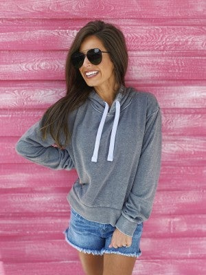 Aspen Hoodie- Heather Grey