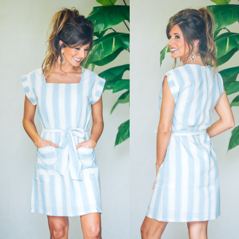 Pocket Full Of Love Striped Dress