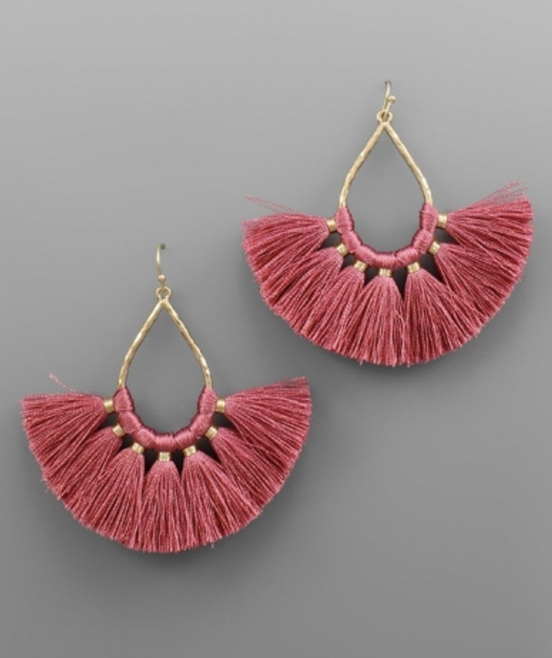 Such A Fan Mauve Earrings