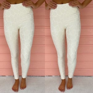 Make It Easy Leggings- Cream