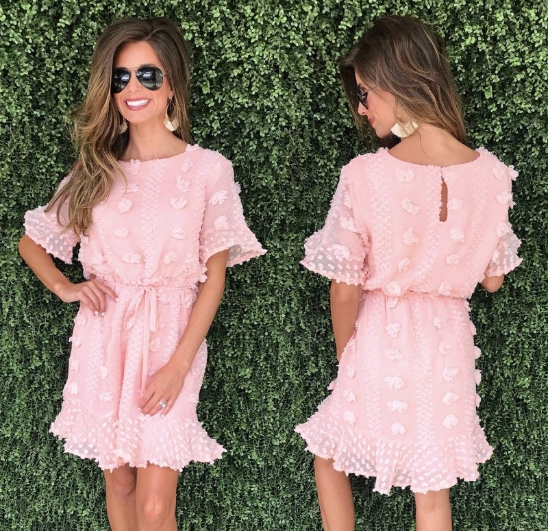 Feeling Peachy Tie Front Dress