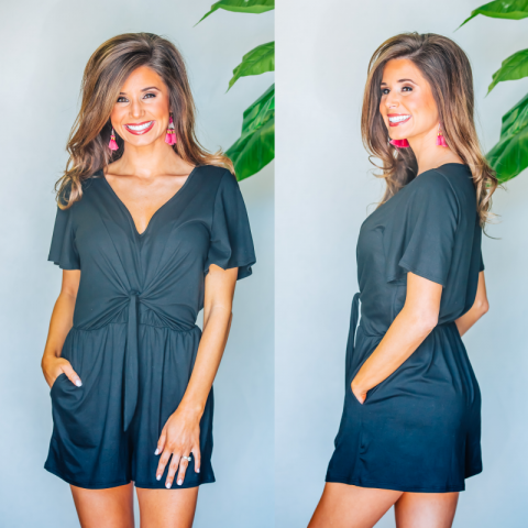 Oh So Sweet Everyday Romper- Black
