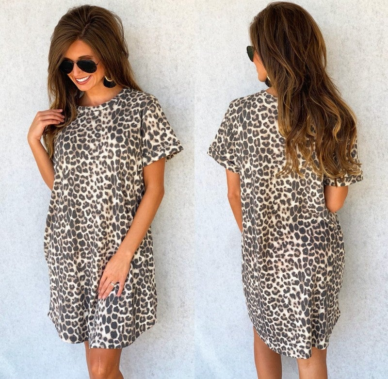 Wild One Cuffed Sleeve Dress