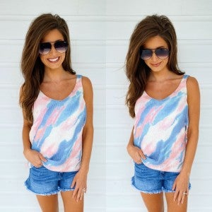 Candy Pink Tie Dye Top