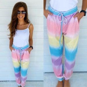 Bright Tie Dye Joggers