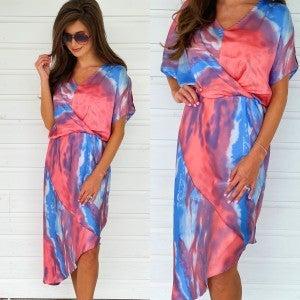 Cotton Candy Tie Dye Midi Dress