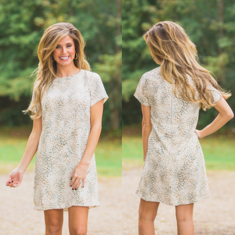 Moving On Muted Cheetah Dress