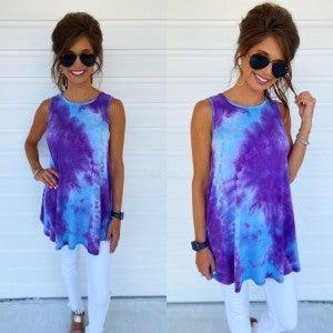Aqua Vibes Tie Dye Top