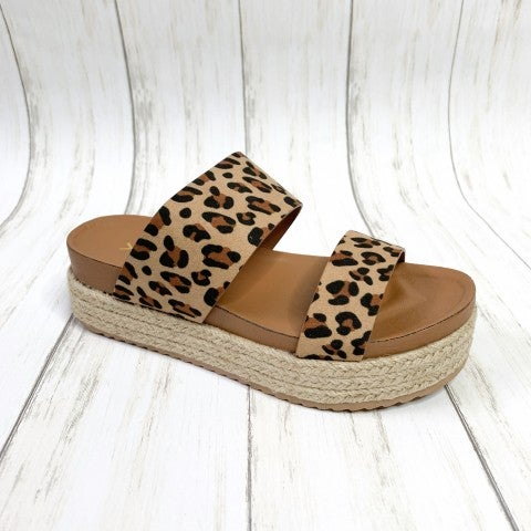 Walking On The Runway Leopard Sandals
