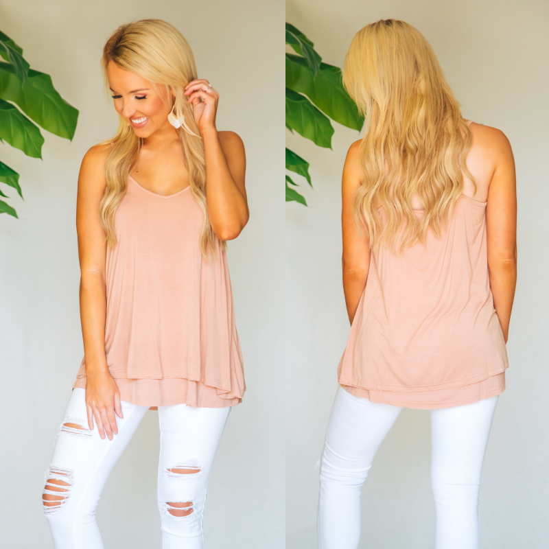 Dusty Pink Basic Tank