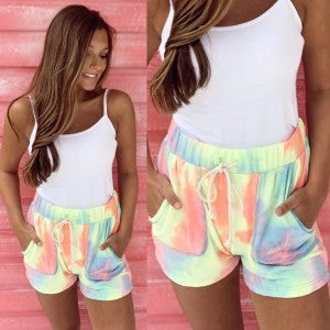 Neon Cotton Candy Shorts