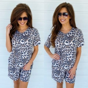 Lovely Leopard Print Set