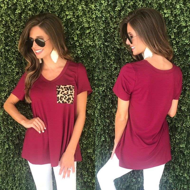 Lacie Pocket Top- Wine