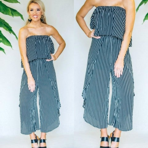 Brooklyn Black Striped Jumpsuit