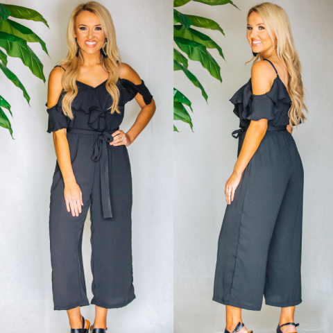 Sweet Simplicity Jumpsuit- Black