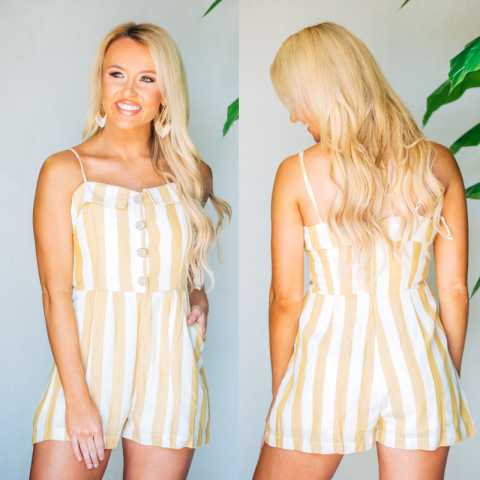 Sun Ray Striped Romper